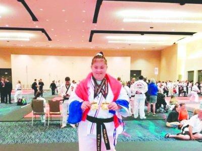 Rosita, campeona mundial de Taekwondo