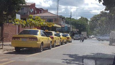 En todo San Lorenzo hay unos mil taxis distribuidos en 96 paradas