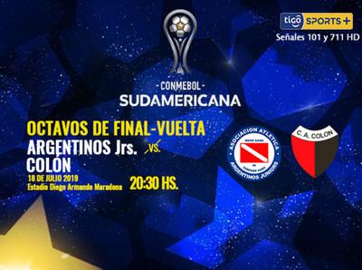 Argentinos Juniors tiene mínima ventaja sobre Colón