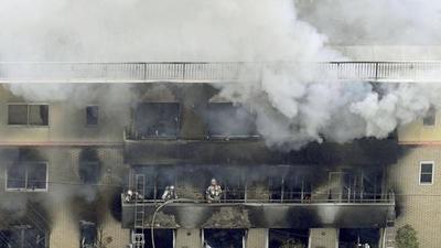 El incendio en un estudio de animación dejó al menos 33 muertos en Japón