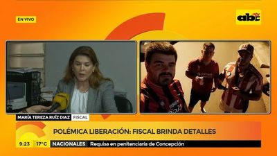 Polémica liberación: Fiscal brinda detalles
