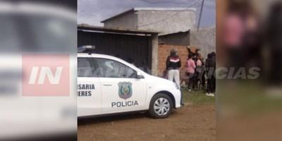 POLICÍA INTERVIENE EN UN HECHO DE SUPUESTO SUICIDIO EN B° SANTA CRUZ.