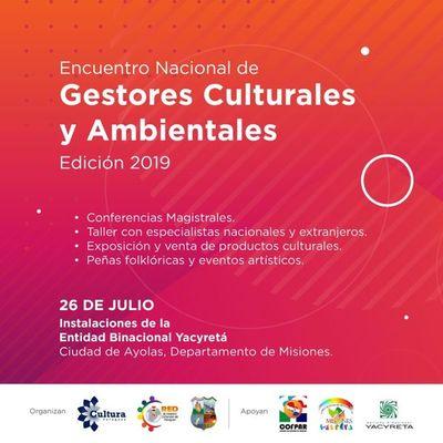 Ayolas será sede del Encuentro Nacional de Gestores Culturales 2019