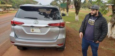 Incautan camioneta robada en Brasil con chapa del diputado Andrés Rojas
