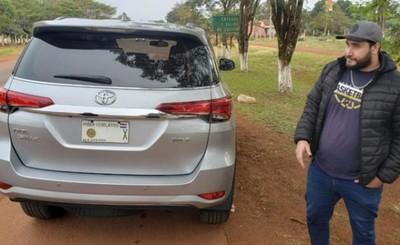 Incautan camioneta robada en Brasil con chapa de Diputado liberal