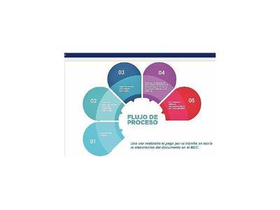 MEC habilita página para gestionar  vía online   documentos