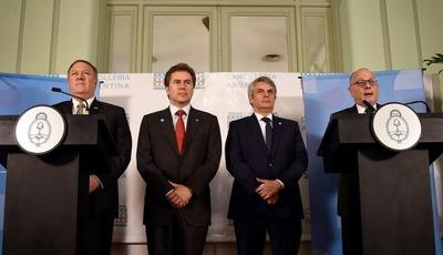 Argentina, Brasil, Paraguay y EEUU crean mecanismo para coordinar lucha contra ilícitos y el terrorismo