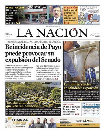 Edición impresa, 22 de julio de 2019