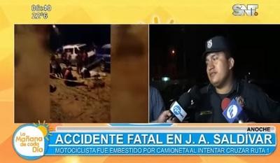 Motociclista fallece tras ser embestido en J.A. Saldívar