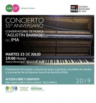 Conservatorio festejará aniversario con concierto gratuito