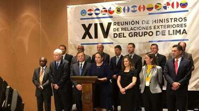 Grupo de Lima se reúne hoy en Argentina para seguir presionando a Maduro