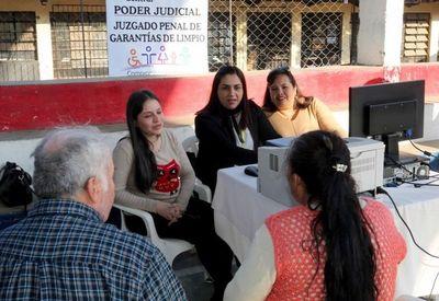 """En Limpio recibieron """"La Justicia llega a tu barrio"""""""