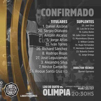 ¡Así juega Olimpia en Quito!