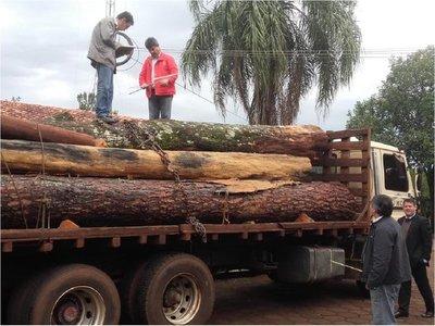 Itapúa: Decomisan camión con rollos en San Rafael del Paraná