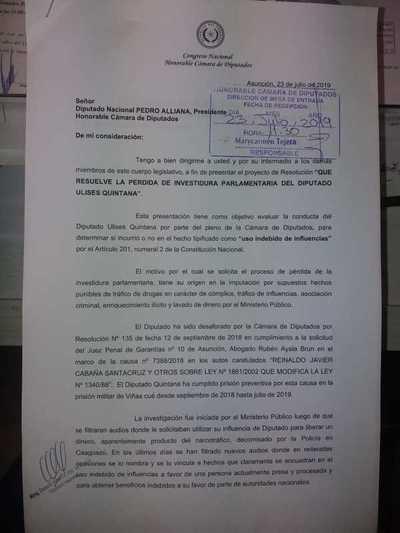 Ciudadanos Indignados respaldan a diputada Celeste Amarilla