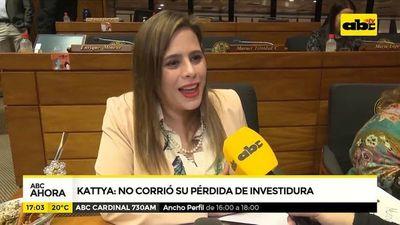 Kattya: no corrió su pérdida de investidura