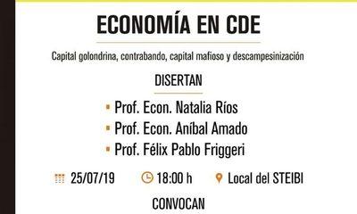 Hablarán sobre economía de Ciudad del Este