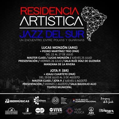 Se desarrolla en Asunción ciclo de residencias artísticas Jazz del Sur