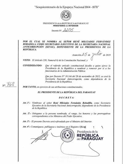 Mario Abdo nombra al fiscal René Fernández como ministro Anticorrupción