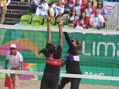 Paraguay ganaenvóley de playa ante Perú
