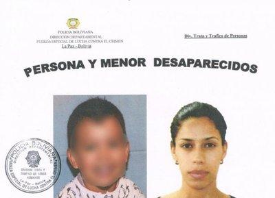 Desaparecen madre e hijo que debían volver de Bolivia