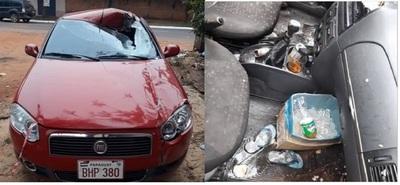 Salto del Guairá: Concejal estaba ebrio, se durmió en el volante y chocó contra una estructura