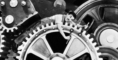 Charles Chaplin en la Manzana de la Rivera