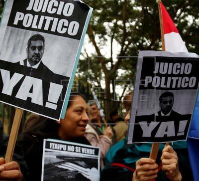 La oposición busca un juicio político contra el presidente de Paraguay por pacto con Brasil