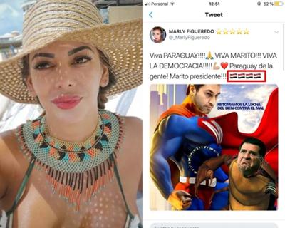 Marly Figueredo y un nuevo error que la vuelva tendencia en redes