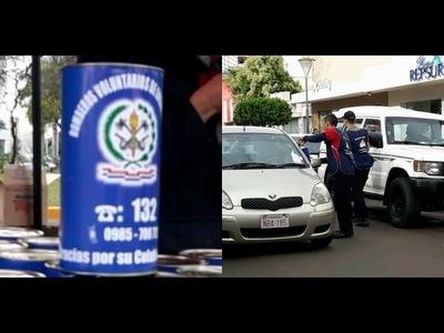 Con el objetivo de adquirir equipamientos, Bomberos azules realizan colecta anual