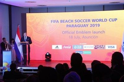 El embajador del Mundial 2019 de fútbol de playa