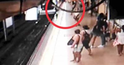 Milagro en el metro de Madrid