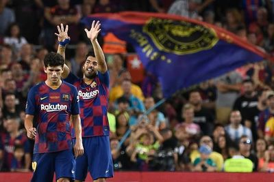 Luis Suárez le da el Gamper al Barça