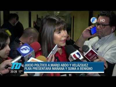 Patria Querida presenta libelo acusatorio para juicio a Velázquez