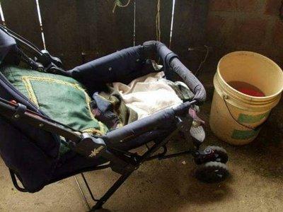 Bebé cayó en un balde con agua y se ahogó