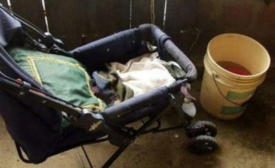 Bebé muere ahogado al caer a un valde con agua