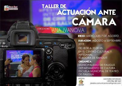 Invitan a curso de actación ante cámaras en Itauguá