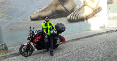 El paraguayo que llegó hasta Alaska en moto