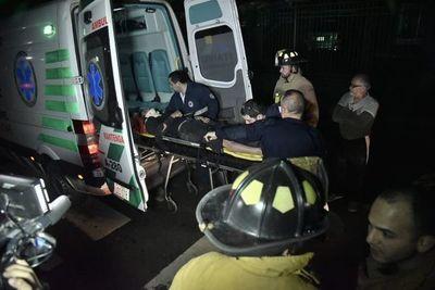 Accidente por imprudencia deja un motociclista herido