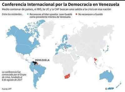 Medio centenar de países buscan una salida democrática en Venezuela