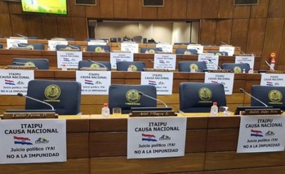 """Itaipu causa nacional. Juicio Político ¡Ya! "", exigen Diputados"