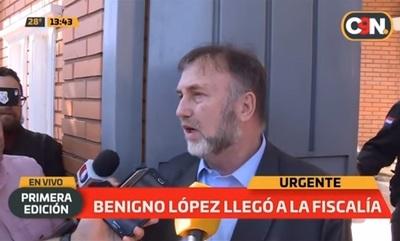 Benigno López dice que la prensa lo mete en problemas