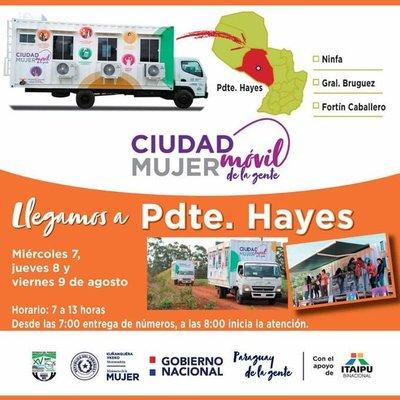 Anuncian presencia del móvil Ciudad Mujer en el Chaco