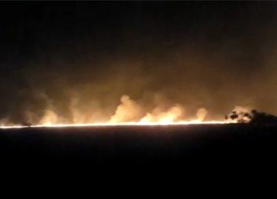 Incendio afecta a unas 400 hectáreas de estancia en Ypacaraí