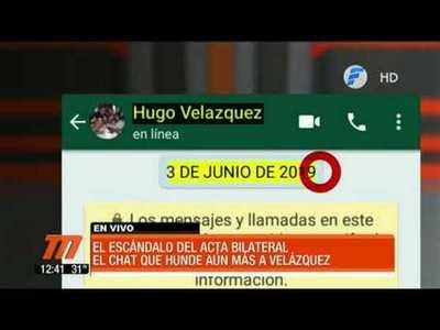 Telefuturo accedió a nuevos chats que involucran a Hugo Velázquez