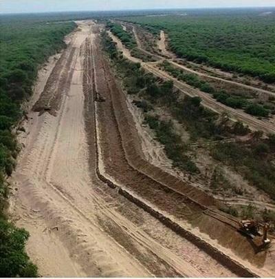 Obras de nueva embocadura en el Pilcomayo se encuentra en etapa final