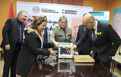 Salud Pública recibió donación de equipos para el servicio de terapia intensiva