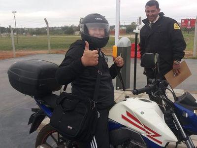 El clásico que viajó en una moto