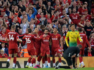 Liverpool arranca la Premier League con goleada al Norwich