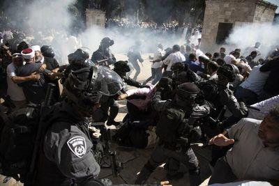 Enfrentamientos en la Explanada de las Mezquitas en Jerusalén